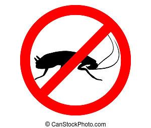 Kakerlakenverbotszeichen