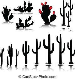 Kaktusvektorsilhouette