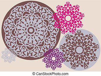 Kaleidoskopisches Blumenmuster.