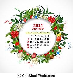 Kalender für 2014, Dezember