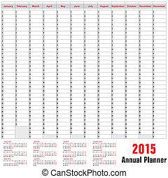 Kalender - Jahresplan 2015.
