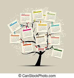 Kalenderbaum 2012 für Ihr Design