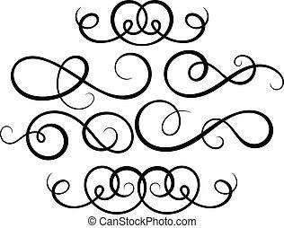 Kalligrafische Dekorelemente.