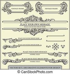 Kalligraphische Designelemente.