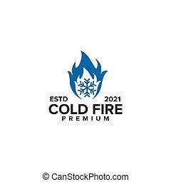 kalte , logo, design, feuer, schablone