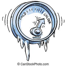 Kalte Temperatur.