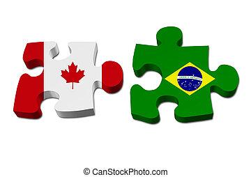Kanada arbeitet mit Brasilien.