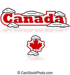 Kanada mit Schnee.