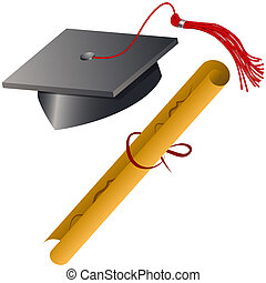 kappe, satz, diplom, studienabschluss