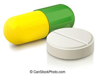 Kapsel und Pille