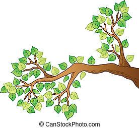 Karikanischer Baum mit Blättern