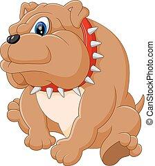 karikatur, bulldogge, reizend
