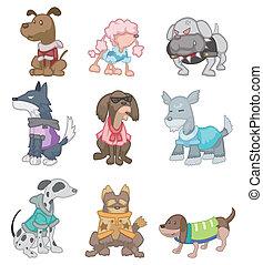 karikatur, hund