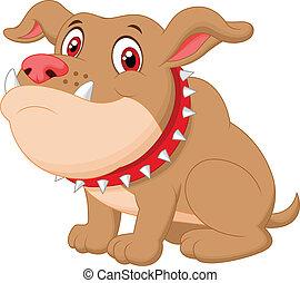 karikatur, reizend, bulldogge