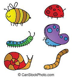 karikaturen, insekt