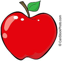 Karikaturroter Apfel