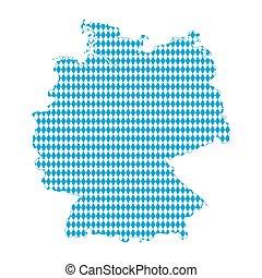 Karte der bavarischen Flagge.