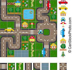 Karte der Straßen