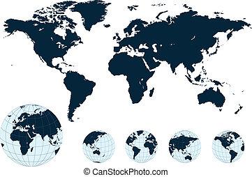 Karte des Weltvektors.