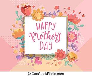 Karte für den glücklichen Muttertag.