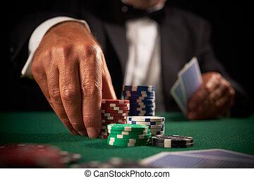 karte, kasino, spieler, späne, gluecksspiel