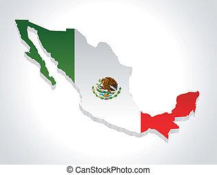 Karte von Mexiko.