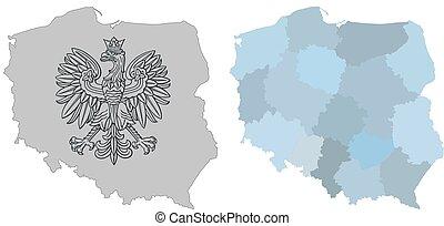 Karte von Poland.