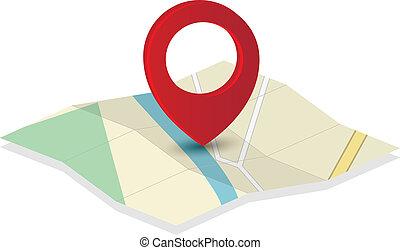 Kartei-Icon mit Nadelspitze