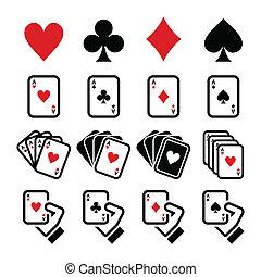 Karten spielen, Poker spielen, spielen.