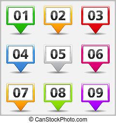 Kartenklammern mit Zahlen