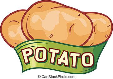Kartoffel-Etikett-Design