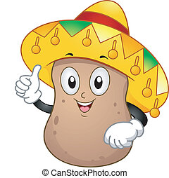 Kartoffel-Maskottchen