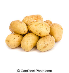 Kartoffel weißer Hintergrund
