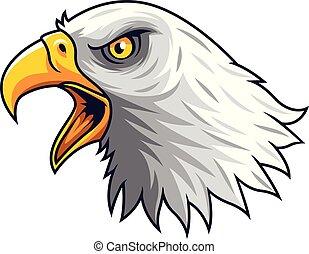 Kartoon Adlerkopfmaskottchen.