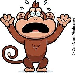 Kartoon-Affen in Panik.