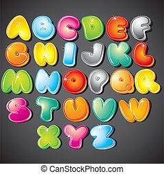 Kartoon Alphabet.
