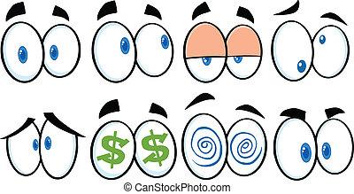 Kartoon Augen 1 Kollektion.