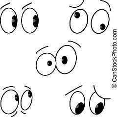 Kartoon-Augen bereit