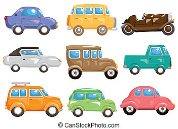 Kartoon-Auto-Ikone.