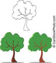Kartoon-Baum-Sammlung.