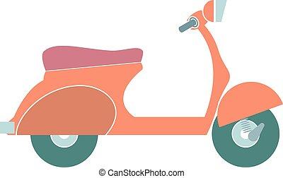 Kartoon colorful Motorrad isoliert. Vector