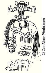 Kartoon-Cowboy