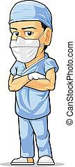 Kartoon des Chirurgen