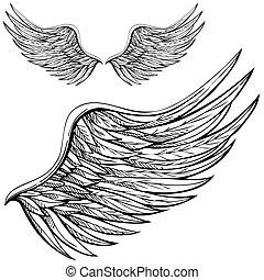 Kartoon Engelsflügel