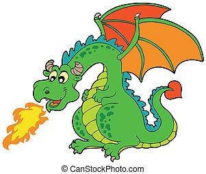 Kartoon Feuerdrache.