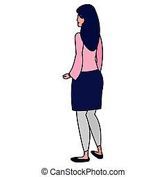 Kartoon-Frau-Ikone.