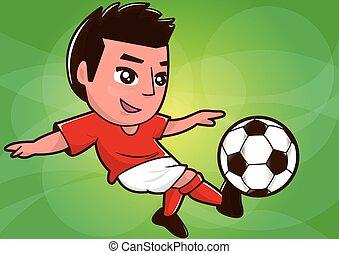 Kartoon-Fußballspieler.