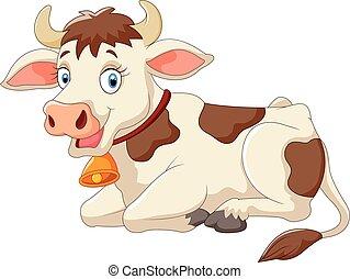 Kartoon glückliche Kuh.