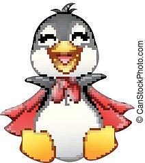 Kartoon glücklicher Pinguin isoliert auf weißem Hintergrund.