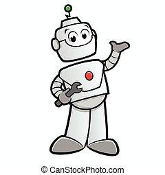 Kartoon glücklicher Roboter.